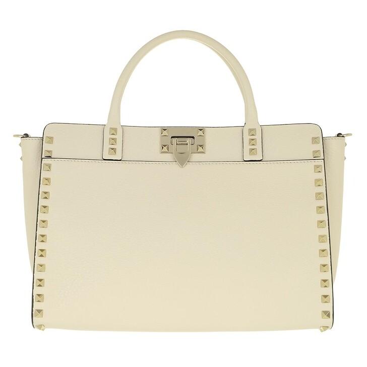 Handtasche, Valentino Garavani, Handle Bag Leather Light Ivory