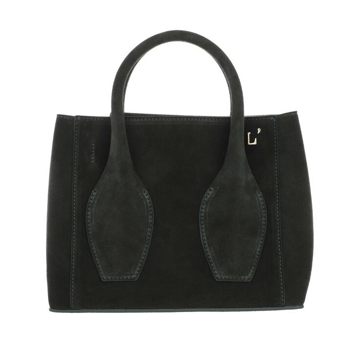 Handtasche, L´Autre Chose, Mini Tote Bag Calf Suede Vert