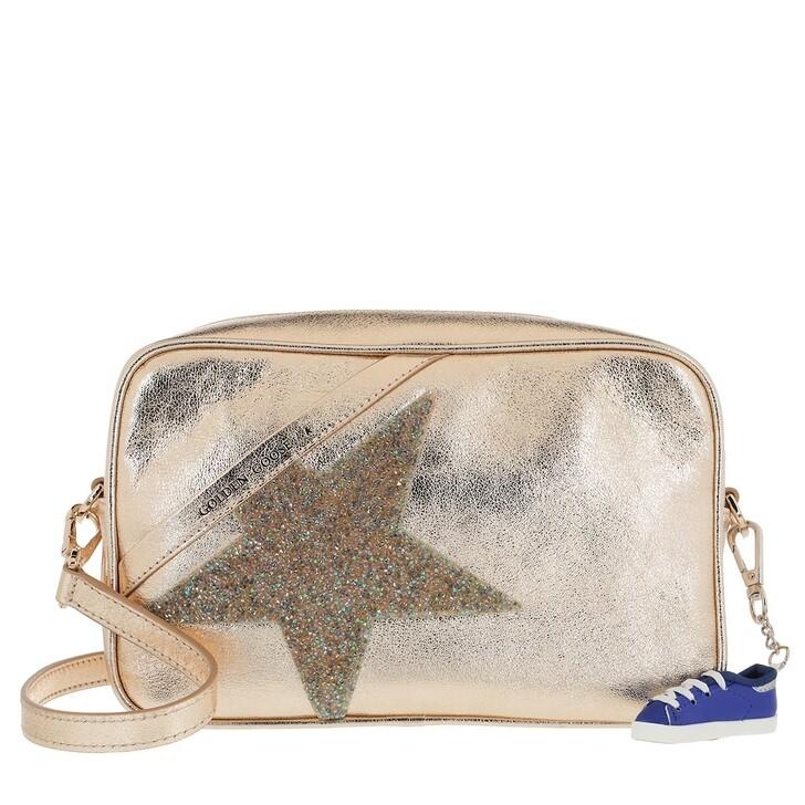 Handtasche, Golden Goose, Star Crossbody Bag Leather Gold