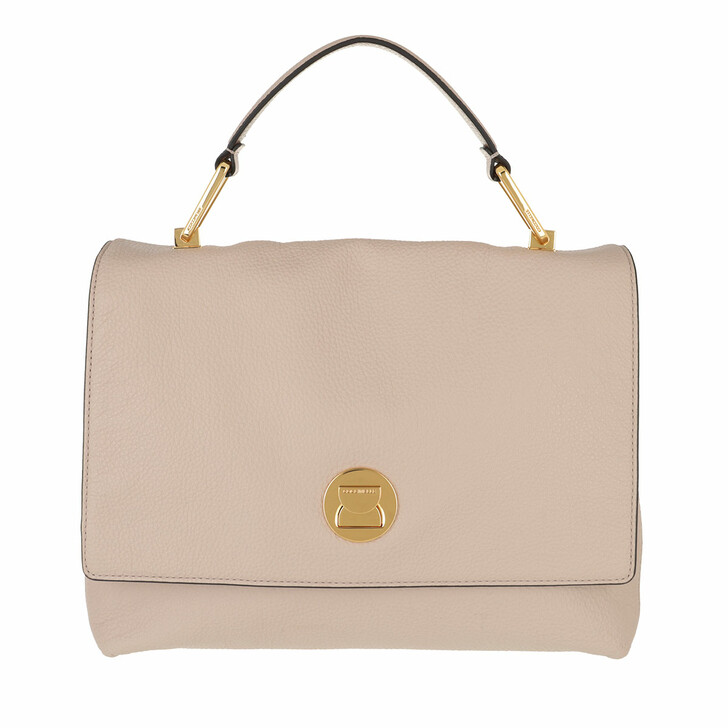 bags, Coccinelle, Handbag Grainy Leather Powder Pi/Taupe