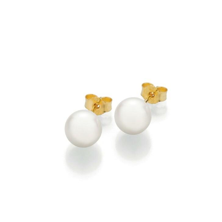 Ohrring, Gellner, Stud Earrings Cultured Akoya Pearl 8 Gold