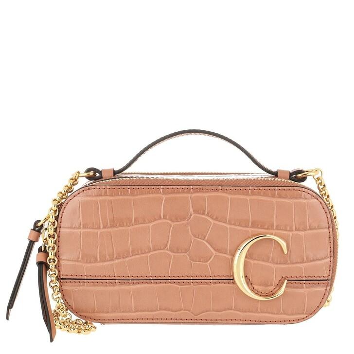 Handtasche, Chloé, Mini C Crossbody Bag Orange