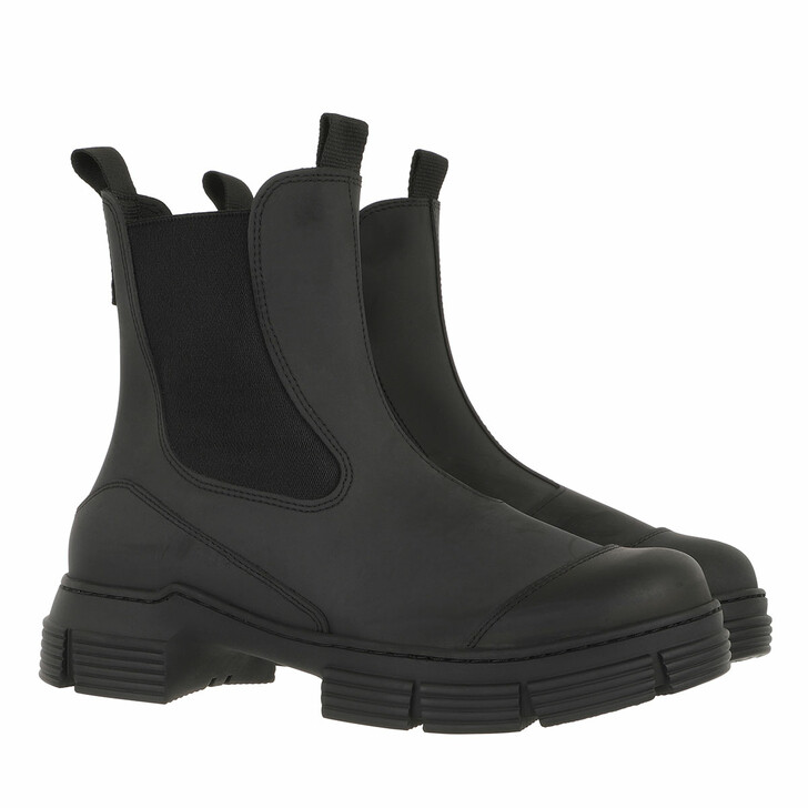 Schuh, GANNI, Recycled Rubber City Boots Black