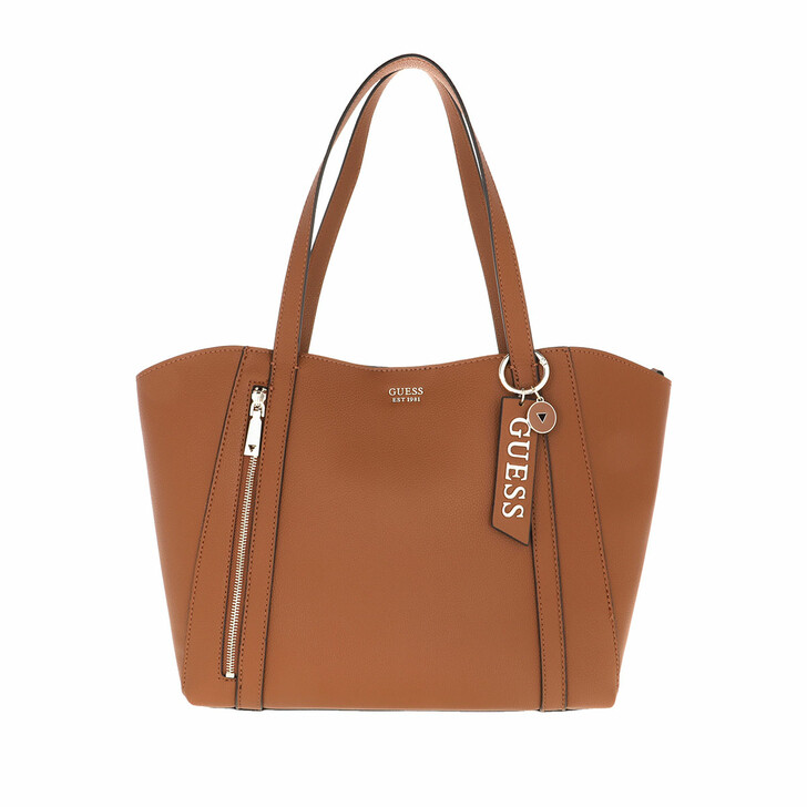 Handtasche, Guess, Naya Trap Tote Bag Cognac