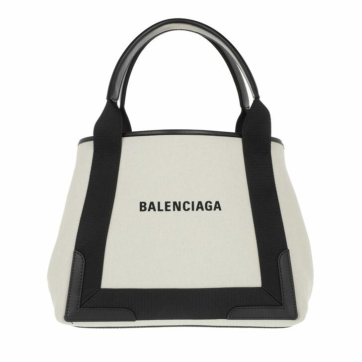 Handtasche, Balenciaga, Navy Cabas S Tote Natural/Black