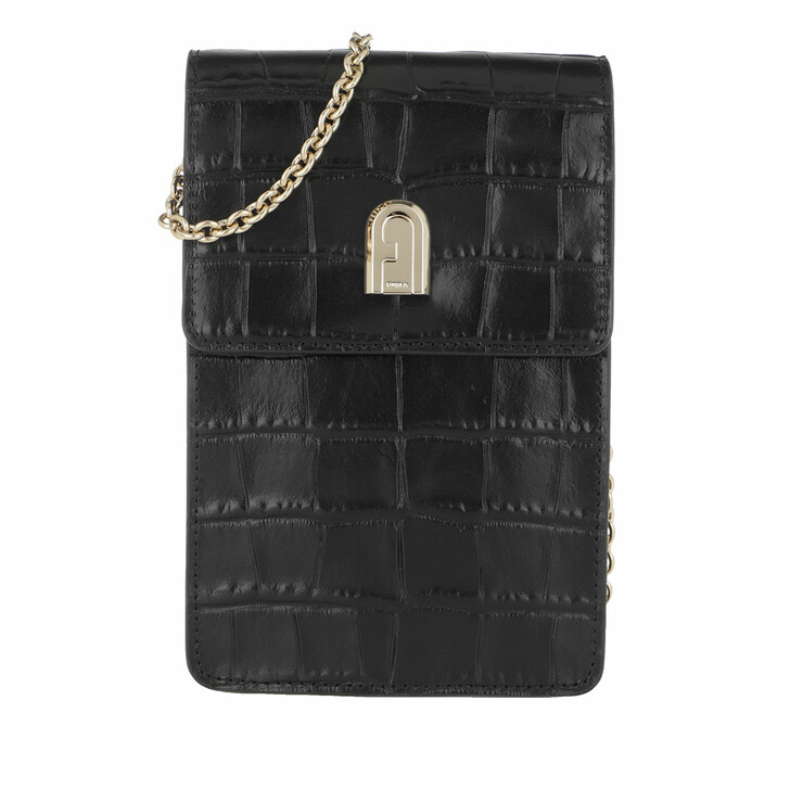 Handtasche, Furla, 1927 Mini Vertical Crossbody Bag Black