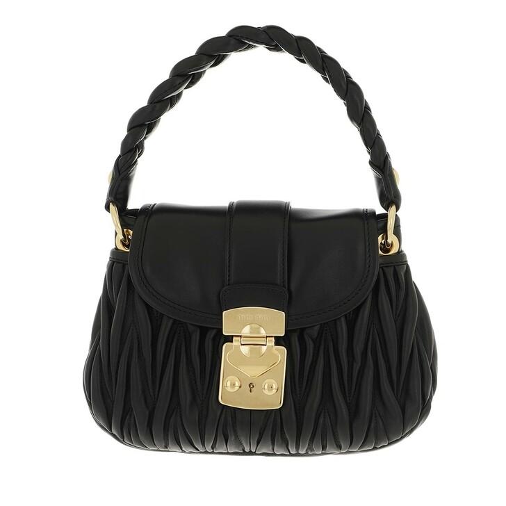 bags, Miu Miu, Coffer Shoulder Bag Matelasse Leather Black