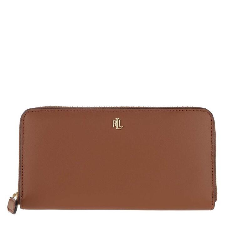 Geldbörse, Lauren Ralph Lauren, Zip Cont Wallet Large Lauren Tan/Monarch Orange
