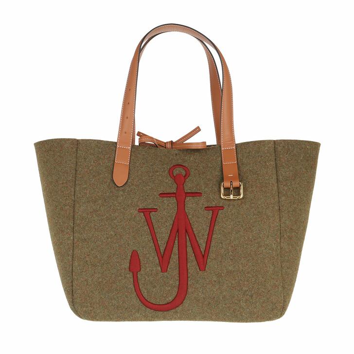 bags, J.W.Anderson, Belt Tote Khaki Bordeaux