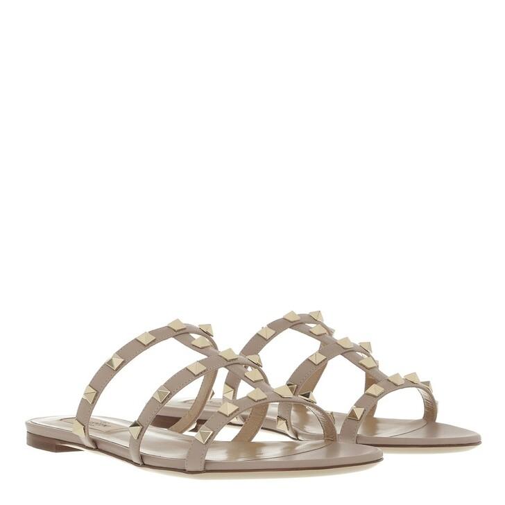 shoes, Valentino Garavani, Rockstud Sandals Poudre
