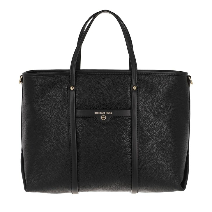 Handtasche, MICHAEL Michael Kors, Medium Conv Tote  Leather Black