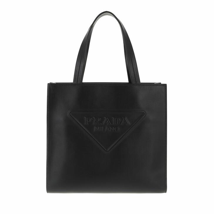 bags, Prada, Mini Tote Bag Leather Black