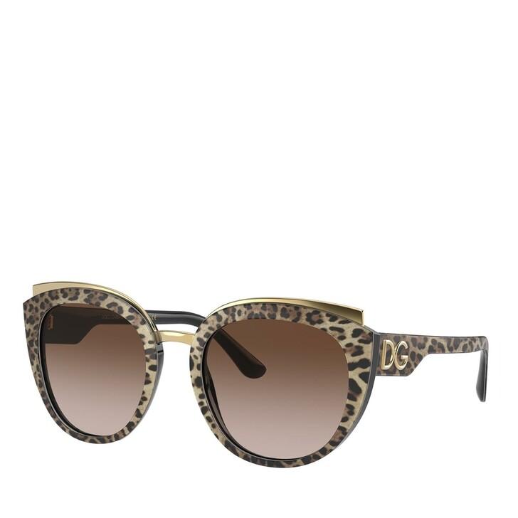 Sonnenbrille, Dolce&Gabbana, AZETAT WOMEN SONNE LEO BROWN ON BLACK