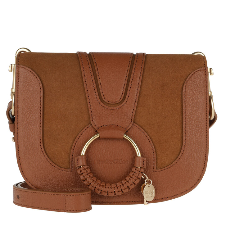 Handtasche, See By Chloé, Hana Shoulder Bag Goat Leather Caramel
