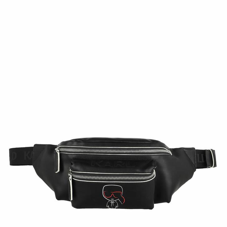 belt_bags, Karl Lagerfeld, Ikonik Outline Belt Bag Black