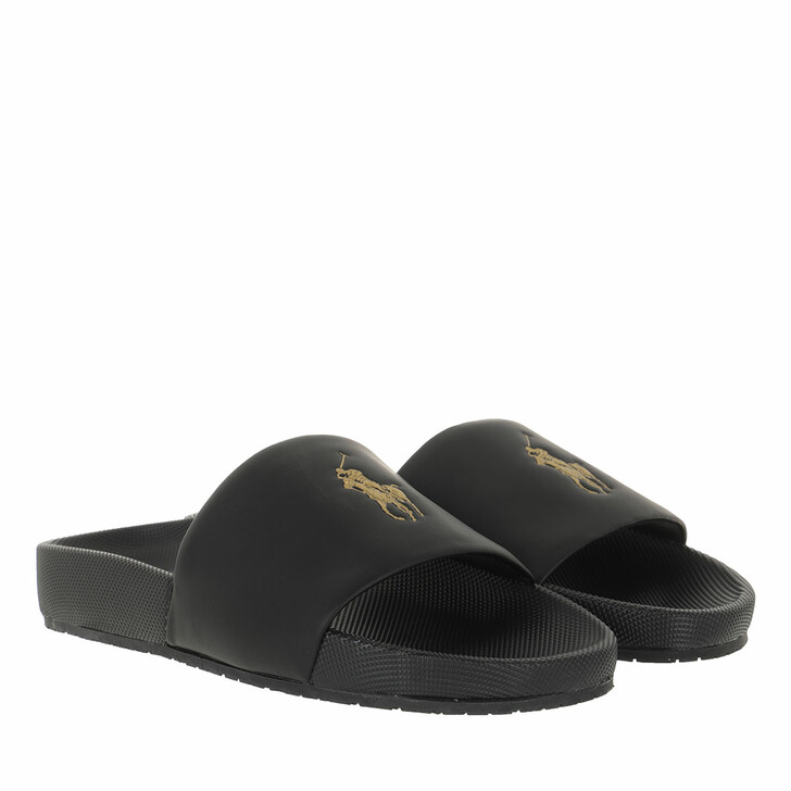 Schuh, Polo Ralph Lauren, Cayson Sandals Casual Black/Gold