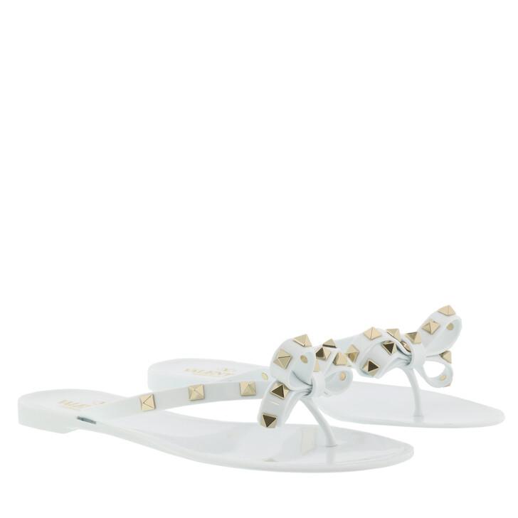 Schuh, Valentino Garavani, Rockstud Flip Flops White