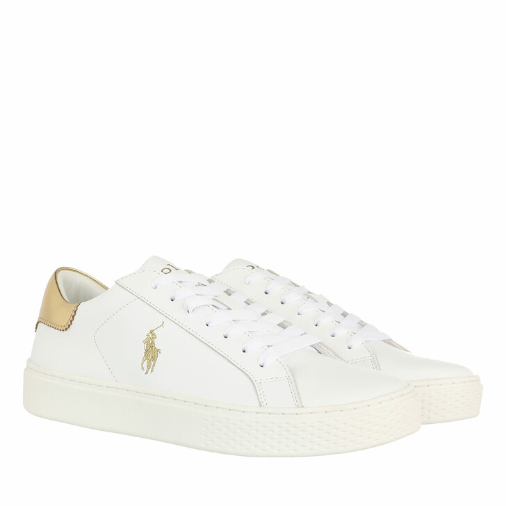 shoes, Polo Ralph Lauren, Court 125 Ii Sneakers Athletic Shoe White/Gold