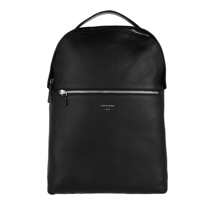 bags, Tiger of Sweden, Small Leather Travel Bag Black