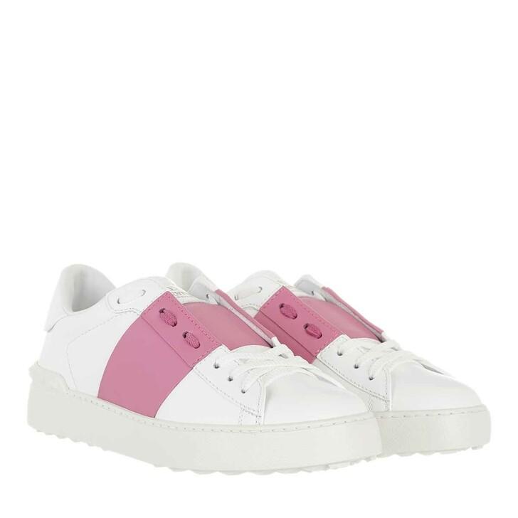 shoes, Valentino Garavani, Bicolor Rockstud Sneaker White Rose
