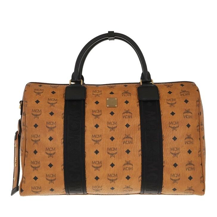 bags, MCM, Travel Visetos Weekender  Cognac