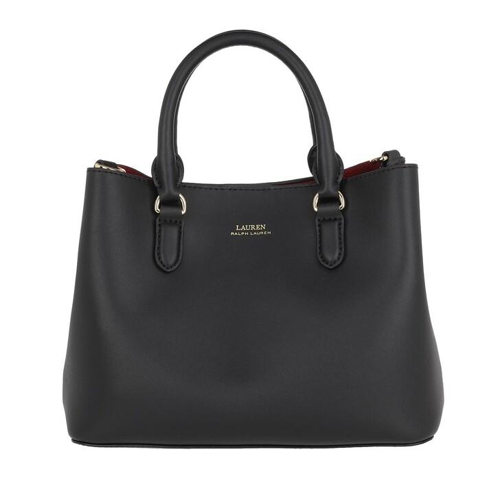 Handtasche, Lauren Ralph Lauren, Marcy Ii Satchel Mini Black/Crimson