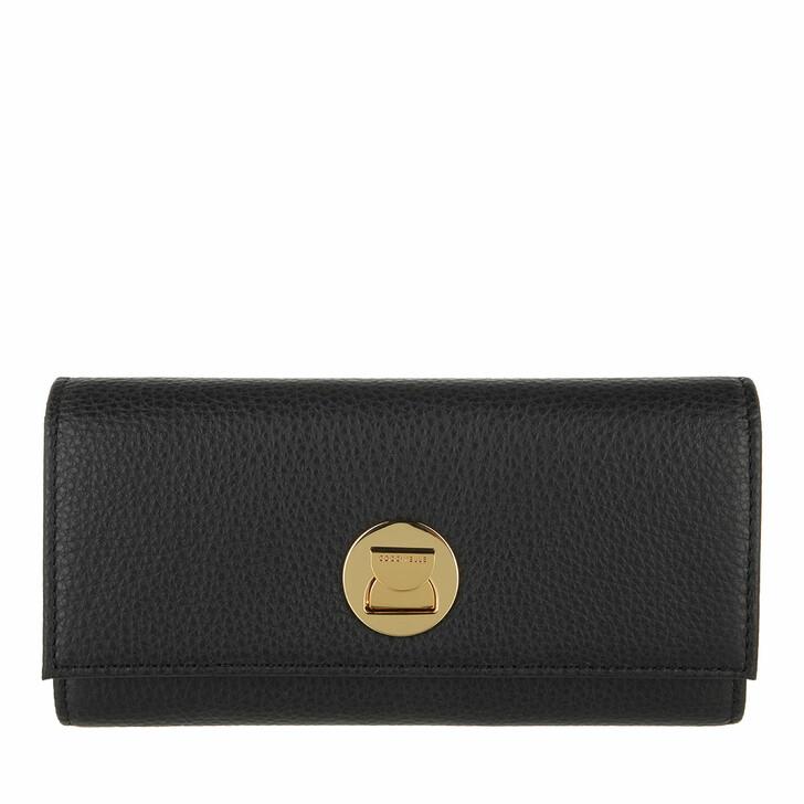 wallets, Coccinelle, Liya Wallet Grainy Leather  Noir