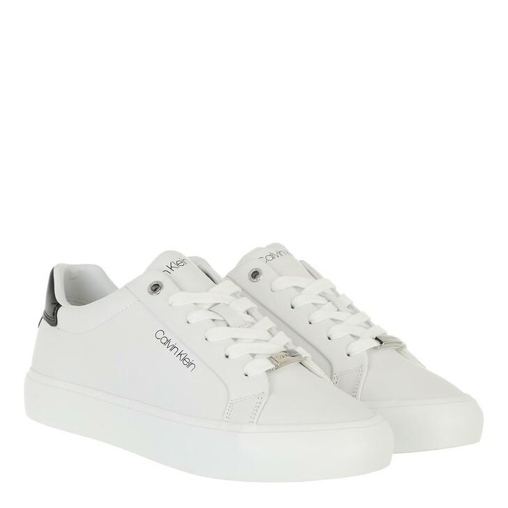 shoes, Calvin Klein, Vulc Lace Up Lth White/Black