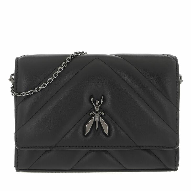 bags, Patrizia Pepe, Crossbody Bag Black/Gun Metal