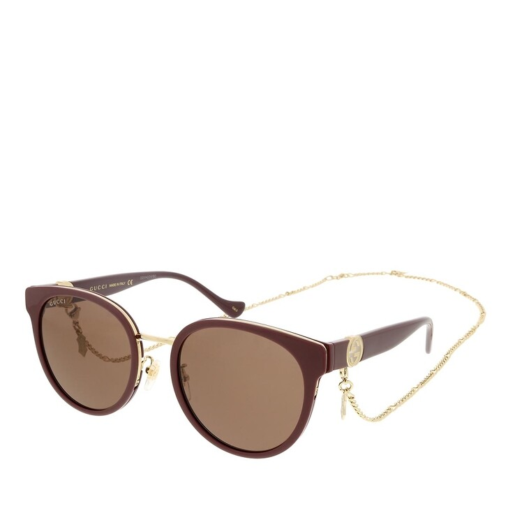sunglasses, Gucci, GG1027SK-004 56 Sunglass Woman Injection Brown-Brown-Brown