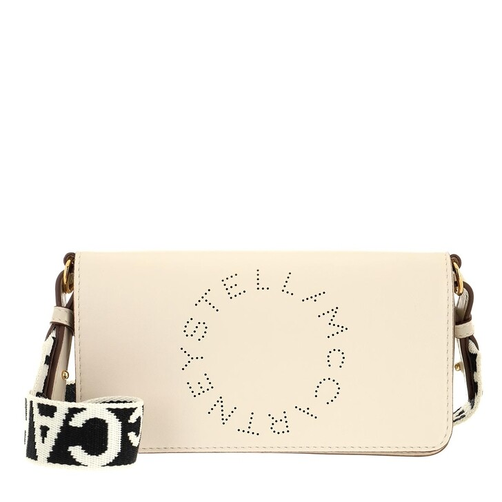 Handtasche, Stella McCartney, Mini Crossbody Bag Eco Soft Alter Leather Pure White