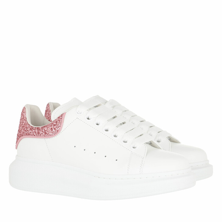 shoes, Alexander McQueen, Sneakers Leather White Pink