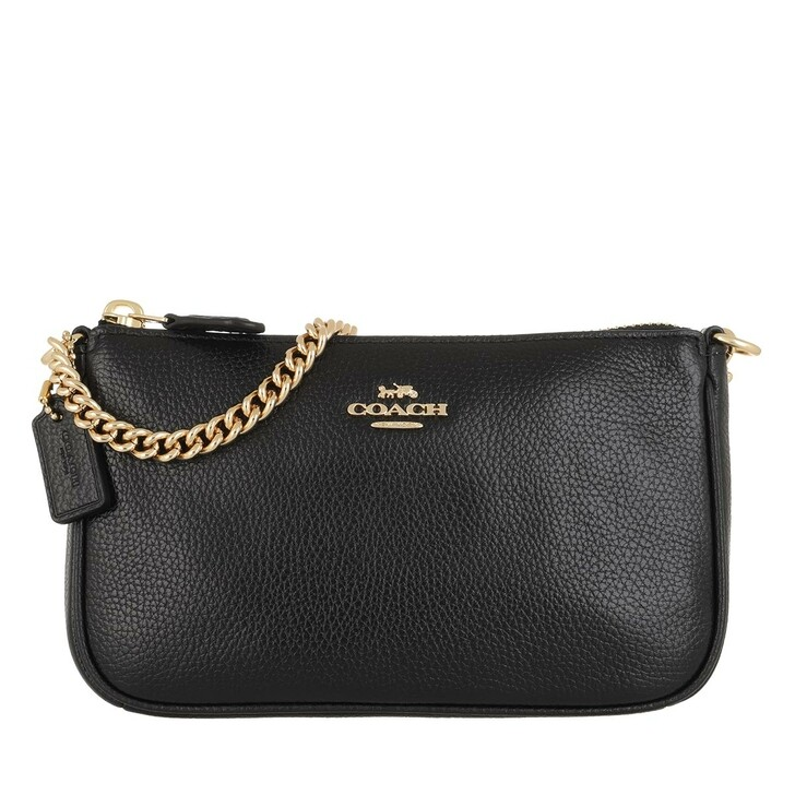 Handtasche, Coach, Nolita 19 Wristlet Pebbled Leather Black
