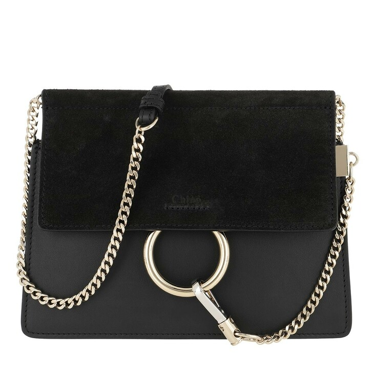 bags, Chloé, Faye Mini Flap Shoulder Bag Black