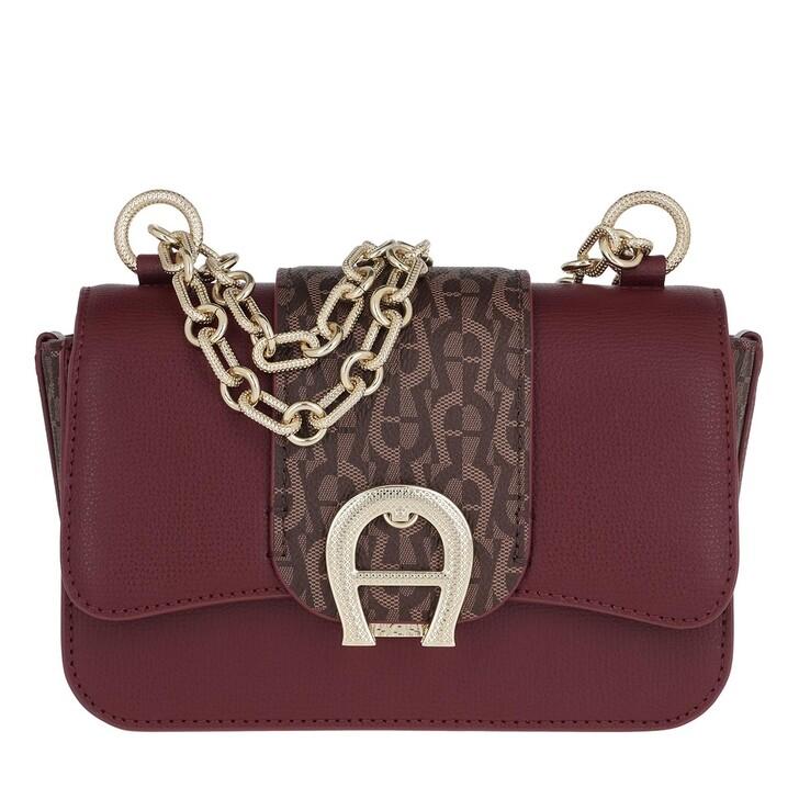 Handtasche, AIGNER, Verona Small Crossbody Bag Burgundy