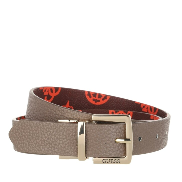 Gürtel, Guess, Uptown Chic Reversible & Adjustable Belt Taupe Prune