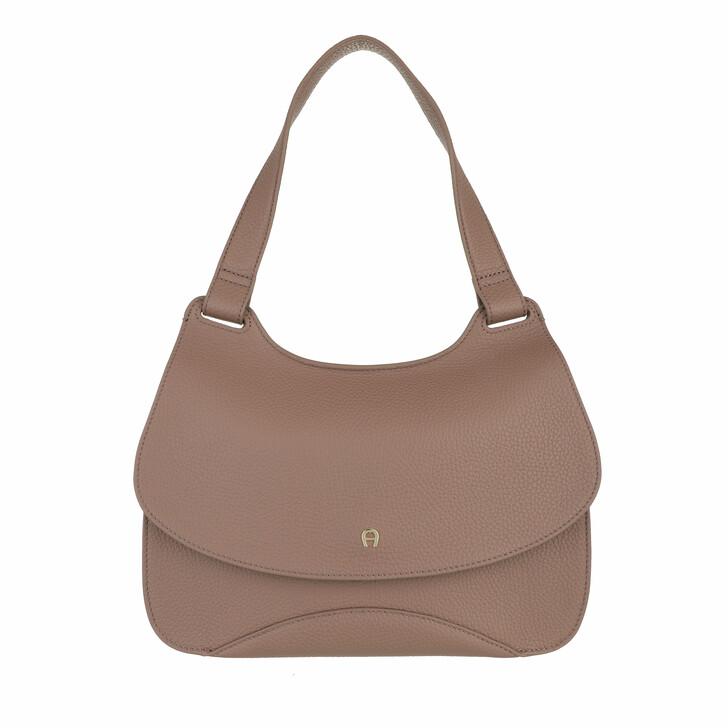 bags, AIGNER, Selma Bucket Bag Mushroom Brown