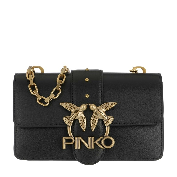 Handtasche, Pinko, Love Mini Icon Simply 5 Crossbody Black