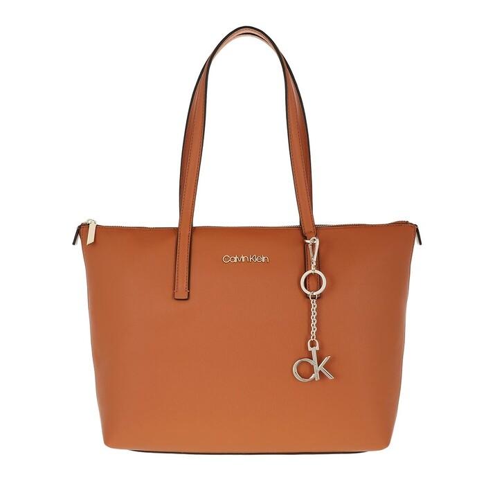 Handtasche, Calvin Klein, Medium Shopping Bag Cognac
