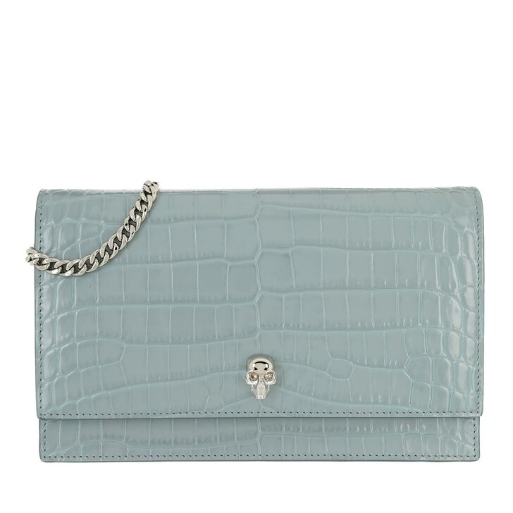bags, Alexander McQueen, Skull Crossbody Bag Patent Leather Blue