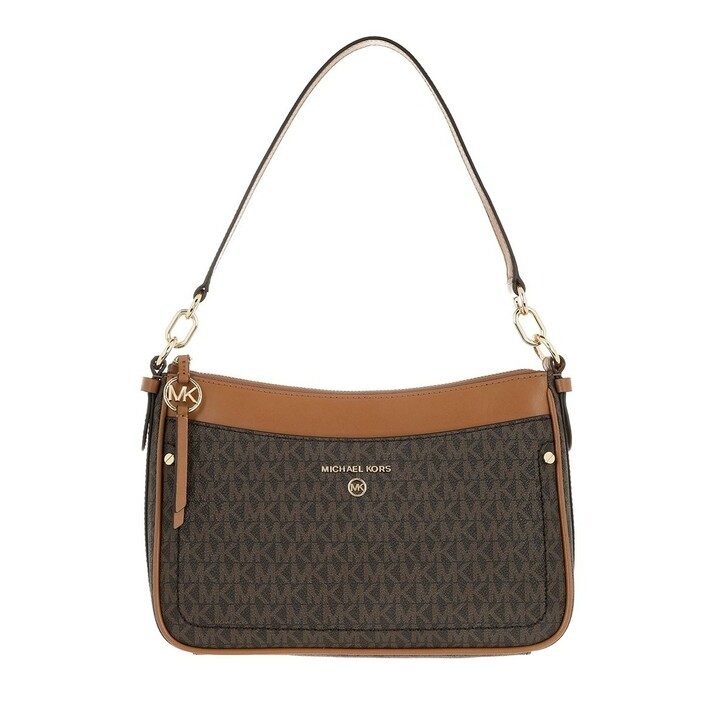 bags, MICHAEL Michael Kors, Medium Tz Pochette  Handbag   Brown/Acorn