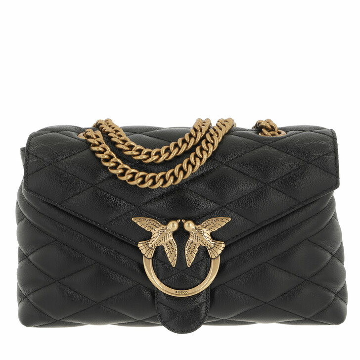 bags, Pinko, Love Lady Puff V Quilt Mix Cl  Nero Limousine