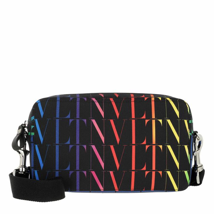bags, Valentino Garavani, VLTN Times Crossbody Bag Nylon Black/Multicolor