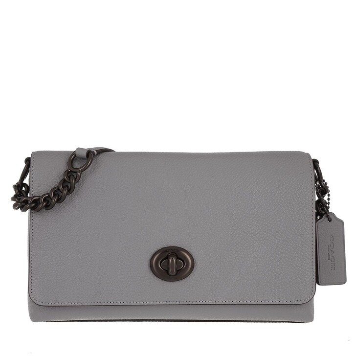 bags, Coach, Polished Pebble Leather Crsstown Xbody Granite