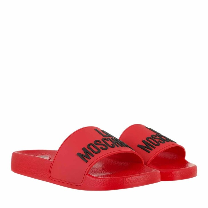 Schuh, Love Moschino, Sabotd Pool25 Gomma  Rosso