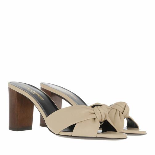 saint laurent -  Pumps & High Heels - Bianca Heel Mules - in beige - für Damen