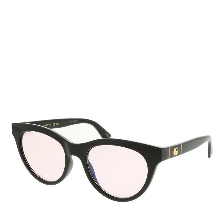 sunglasses, Gucci, GG0763S-005 53 Sunglass Woman Photocromatic Lens & Blue Blocker Black-Pink