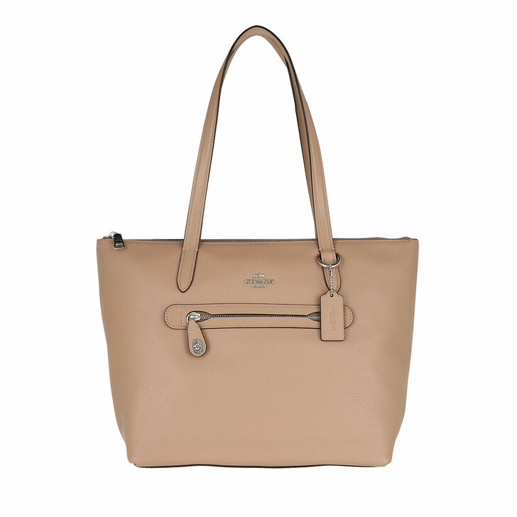 Handtasche, Coach, Whls Pebbled Lthr Taylor Tote Taupe