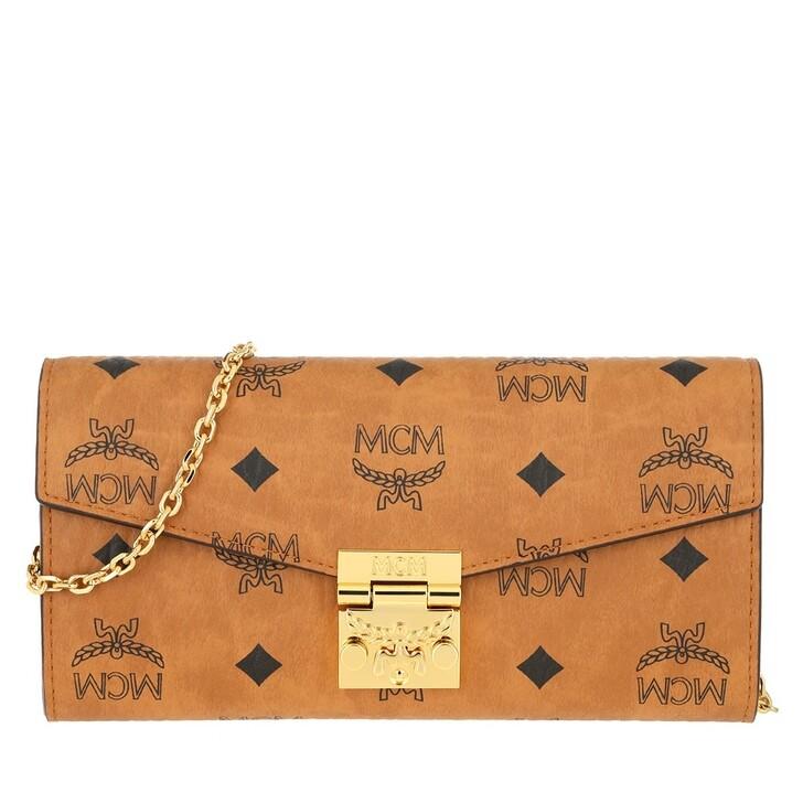 Geldbörse, MCM, Pa Visetos W-F13-1 2Fd Wallet On Chain Large  Cognac