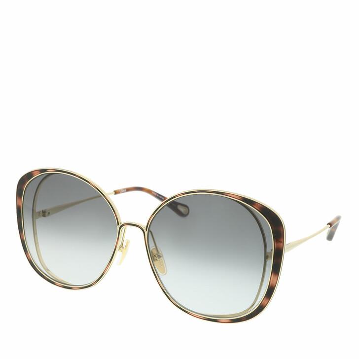 Sonnenbrille, Chloé, Sunglass WOMAN METAL GOLD-GOLD-GREY
